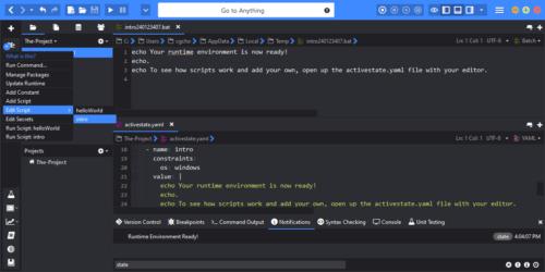 Komodo ActiveState Platform Integration